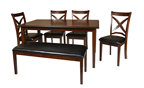 New Classic Milo 6 Piece Espresso Dining Set