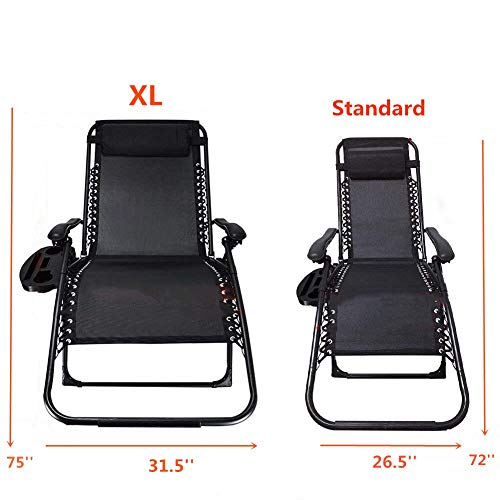 XL Zero Gravity Chair,Heavy Duty Supports 400 lbs...