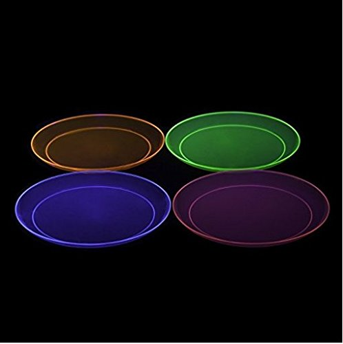 Party Essentials Brights Assorted Neon: 160- 6 inch Plates, 192 Beverage Napkins and 192 Place Settings of Disposable Extra Heavy Duty Full Size Cutlery (576 pieces); Bundled by Oasis MercantileÊ (12) by Party Essentials (Image #5)