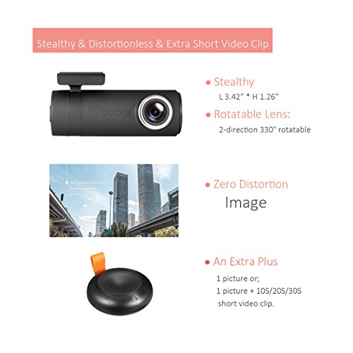 DDPai mini2P With Distortionless Lens Wi-Fi Dash Cam 1440P 2K Car Camera With Built-in Supercapacitor, G-sensor, Snapshot Button, WDR, Loop Recording, Parking Monitor By 1FPS by ddpai (Image #1)
