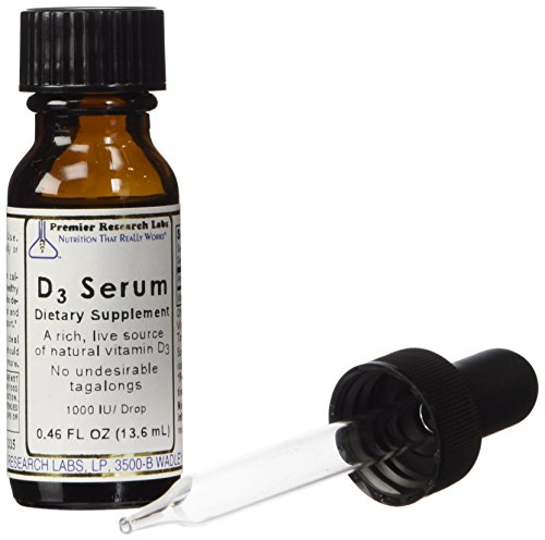 PREMIER RESEARCH LABS D3 Serum - A Rich, Live Source of Natural Vitamin D3 for Immune and Cardiovascular Support (0.43 Ounce - 12.6 Milliliter - Pack of Two)