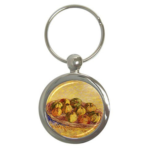 Still Life With Basket Of Apples By Vincent Van Gogh Round Key Chain