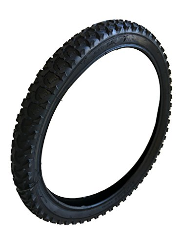 Unique Imports Heavy Duty Bicycle tire Flat Bike Tire Replacement Tire Part Repair Black Color (26 Inch)
