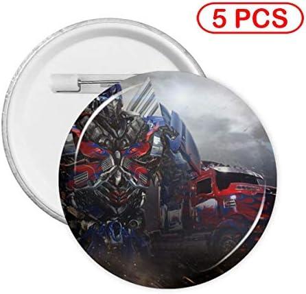 Optimus Prime Vintage-Anstecknadel aus Metall, rund, für Kleidung, Dekoration, Geschenk