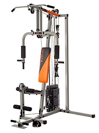 df7d772aa591 V-Fit STG09/2 Herculean Modular Compact ADDER Gym 100kg: Amazon.co ...