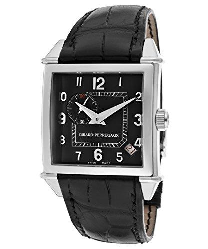 Girard-Perregaux-Mens-Vintage-1945-Automatic-Black-Dial-Black-Genuine-Alligator