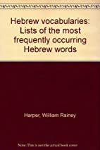 Hebrew vocabularies, lists of the most…