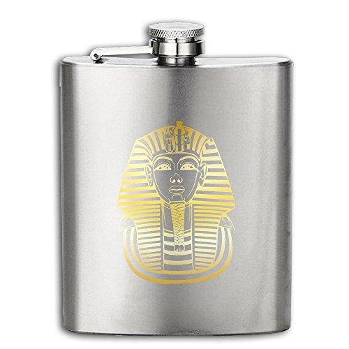 Tutankhamon King Tut Egyptian Flasks Stainless Steel Liquor Flagon Retro Rum Whiskey AlcoholPocket Flask Liquor Flagon Retro Rum Whiskey Flask Great Gift 6OZ Lightweight - Ballroom Costume Maker