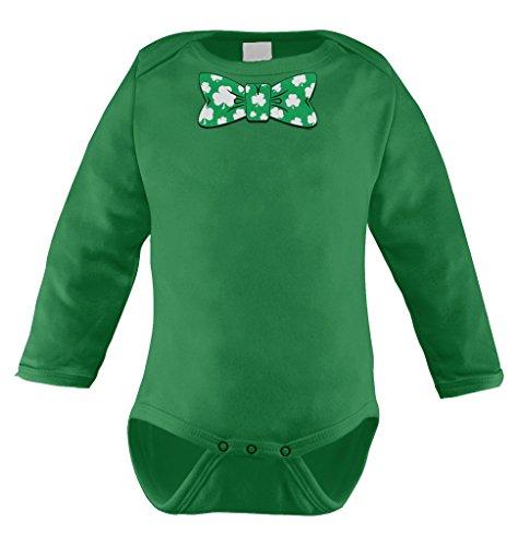 Shamrock Bowtie Clover Patricks Bodysuit