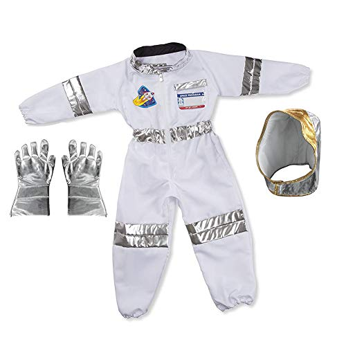 Children Astronaut Costume Kids Role Play Dress Up Set - Tops,Pants,Gloves,Helmet