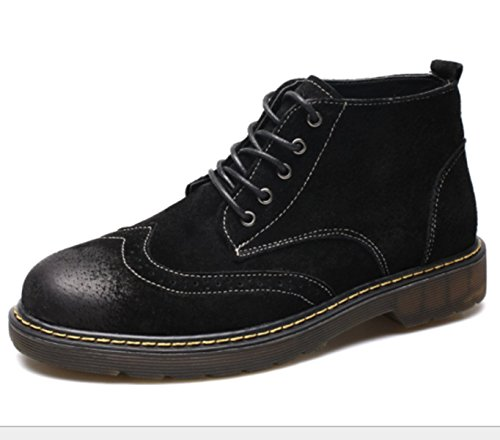 Retro Black Boots Casual Office Fashion Martin Career Climbing LINYIMen's Tooling Walking Sports aPwTtqWxU
