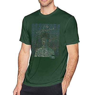 Aergaerg387 Middle DJ Snake Mens T-Shirt for Teenager Forest Green 5XL