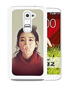 Papers Co He Kpop Iu Singer Music Cute Girl Sexy White Fashionable Design LG G2 Plastic Case