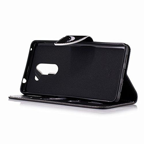 Yiizy Huawei Honor 6X (Huawei Mate 9 Lite, Huawei GR5 2017) Custodia Cover, Denti Sorridono Design Sottile Flip Portafoglio PU Pelle Cuoio Copertura Shell Case Slot Schede Cavalletto Stile Libro Bumpe