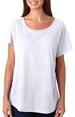 (Next Level Apparel Women's Tri-Blend Dolman Top, White, X-Small)