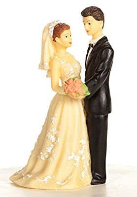 Vintage 1970s Bride and Groom Wedding Cake Topper