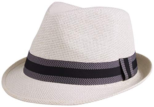 Enimay Unisex Vintage Fedora Hat Classic Timeless Light Weight 2121 - Off White Size S/M by Enimay