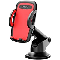 Mpow Car Phone Mount, Universal Phone Holder for Car Dashboard Windshield Phone Cradle for iPhone X/8/7/7Plus/6s/6Plus/5S, Galaxy S5/S6/S7/S8, Google, LG, Huawei and More
