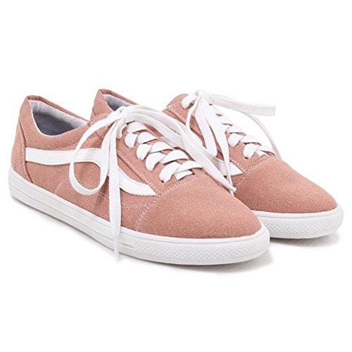 TAOFFEN Moda Pink Scarpe Donne Skateboard aawzpA