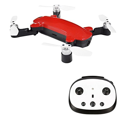 Goolsky SIMTOO XT175 Fairy Brushless Selfie Drone GPS Optical Flow Positioning 8.0MP 1080P HD Camera Folding WiFi FPV Altitude Hold RC Quadcopter (Red)