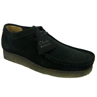 f1fa8106a7d Clarks Originals Wallabee pour homme en cuir de daim Chaussures - Noir -  Daim noir
