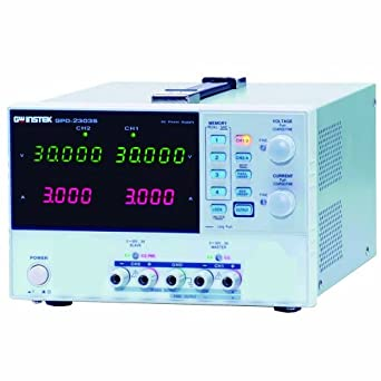 Instek GPD-2303S 180W Dual-Output Programmable Linear DC Power Supply, 30V  DC, 3 Amp