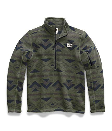 The North Face Men's Gordon Lyons Novelty 1/4 Zip, Four Leaf Clover California Geo Stripe Print, S