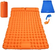 Searching Roads Double Sleeping Pad for Camping Self Inflating Sleeping Mat Ultralight Waterproof Mat with 2 P