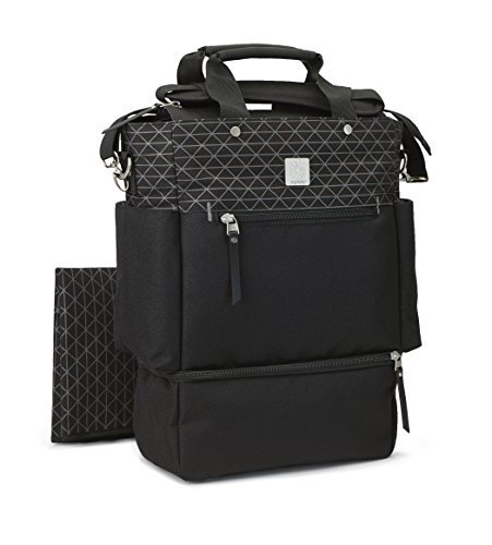 Ergobaby Tote Diaper Bag, Carry On, Black