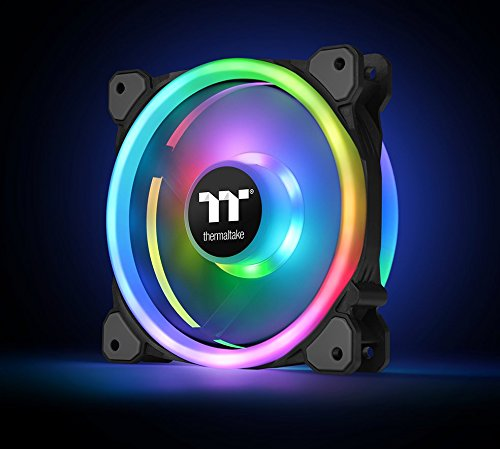 Thermaltake Riing Trio 12 RGB TT Premium Edition 120mm Software Enabled 30 Addressable LED 9 Blades Case/Radiator Fan - 3 Pack - CL-F072-PL12SW-A by Thermaltake (Image #9)