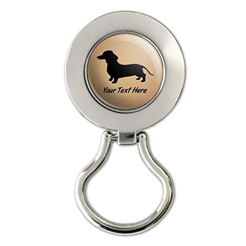 Personalized Custom Dachshund Wiener Dog 1 Line Magnetic Metal Eyeglass ID Badge - Holder Eyeglass Dachshund