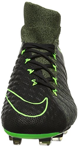 Nike Hypervenom Phantom Iii Tc Fg, Botas de Fútbol para Hombre Negro (Black / Electric Green-Sq-Plm Green)