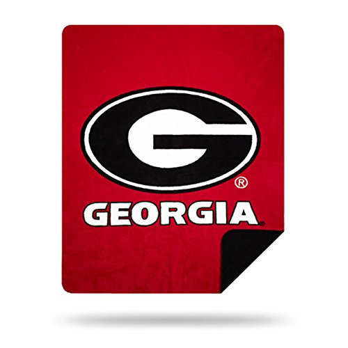 - Officially Licensed NCAA Georgia Bulldogs Denali Silver Knit Throw Blanket, Red, 60