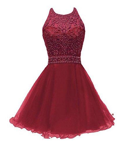 681d77f46 SHANGSHANGXI Teens Prom Dresses Short 2018 Appliques Homecoming Dress for  Girls Burgundy,6 by SHANGSHANGXI