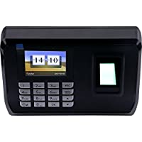 Yeeco LCD Display Biometric Fingerprint Attendance Machine Time Clock Attendance Recorder System Support USB to Download Data