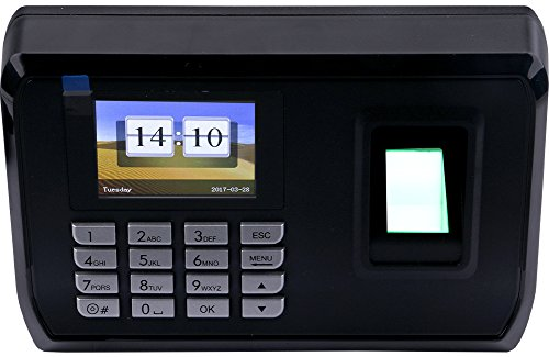 Biometric Time Attendance System - Yeeco LCD Display Biometric Fingerprint Attendance Machine Time Clock Attendance Recorder System Support USB to Download Data