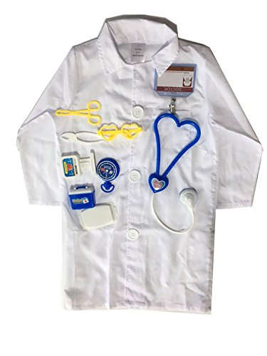YOLSUN Lab Coat Role Play Costume Set for Kids, Boys' and Girls' Lab Dress up and Play Set (4-5Y, White) by YOLSUN (Image #3)'