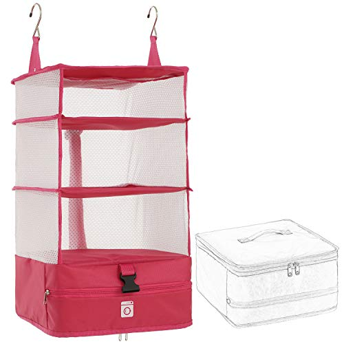 OWNFUN Large Portable Luggage Organizer - Hanging Travel Packing System Luggage Cube