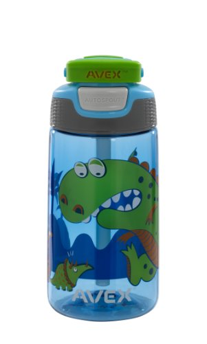 AVEX Boy's Freestyle Water Bottle, Columbia Blue, 16-Ounce