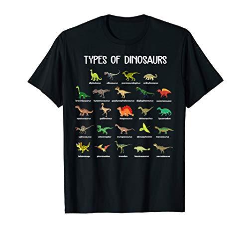 Type Of Dinosaurs Diplodocus Allosaurus Ankylosaurus Tshirt]()