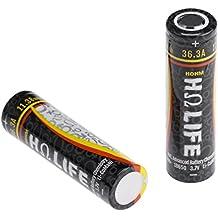 Hohm Life INR+ 18650 3.7V Li-CoMaNi 3077mAh 36.3A High Drain Rechargeable Li-ion Battery Flat Top (2-Pack)