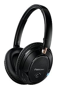 Philips SHB7250BK Casque Audio Bluetooth sans fil ou avec Câble Jack Inclus, Android, iOS avec Micro, Pliable, Léger Noir