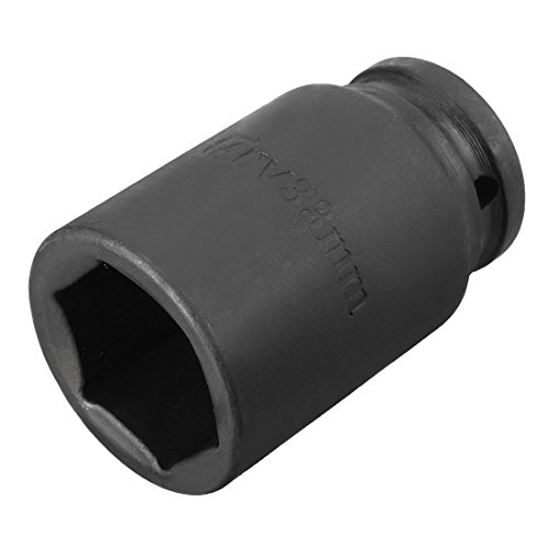 uxcell 3/4-inch Drive 33mm 6-Point Deep Impact Socket, Cr-V Steel