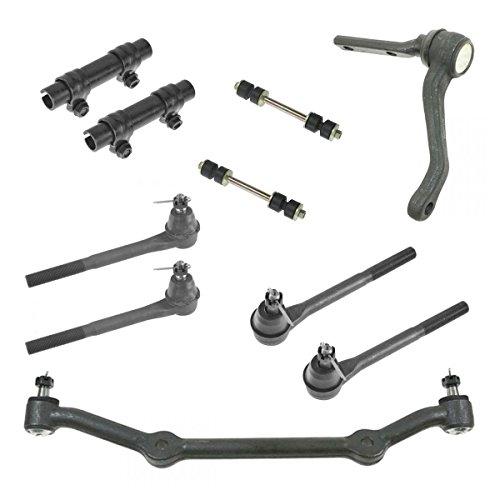 10 Piece Front Suspension Kit Idler Arm Drag Link Tie Rods & Sway Bar End -