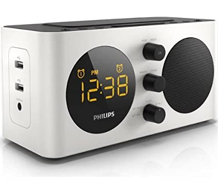 Philips Radio Reloj AJ6000 - Despertador (Digital, Ámbar, 195 x 99.3 x 97