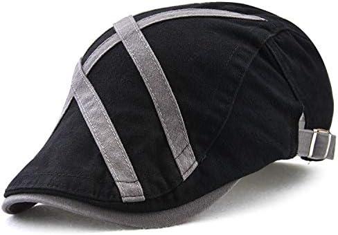 野球帽 キャスケット メンズ ハット 綿 調整可能 日よけ 防風 お洒落 丈夫 ハンチング 57cm〜59cm LWQJP (Color : Light grey, Size : One Size)