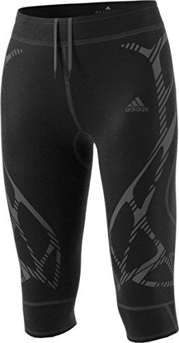 adidas Women's Running Adizero 3/4 Tight Bottom, Black/Mystery Blue, X-Large