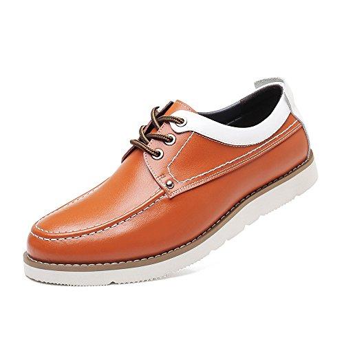 Les Taille 43 Véritable Messieurs Semelle à Richelieus pour Chaussures pour Les Marron Color Homme 2018 Mocassins Souple Hommes Décontractées en Cuir EU Lacent Les Oxford fwdngBq