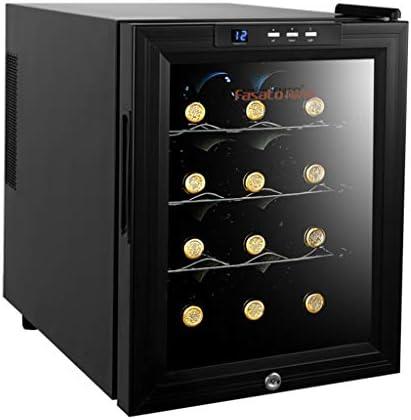 Enfriador de vino termoeléctrico de 12 botellas - Enfriador de vino rojo y blanco - Bodega de mostrador con inteligente chip de termostato Luz LED - Seguro para niños