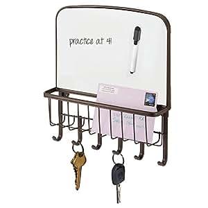 Amazon.com: mDesign - Cesta de metal para almacenamiento de ...